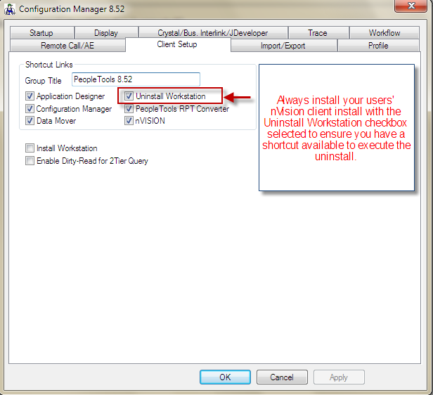 PeopleSoft nVision Issue Resolution Running PeopleTools Uninstall – Nvision Peoplesoft