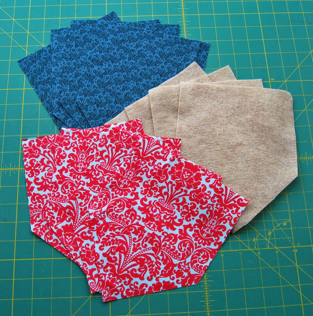 fabric pieces cut out
