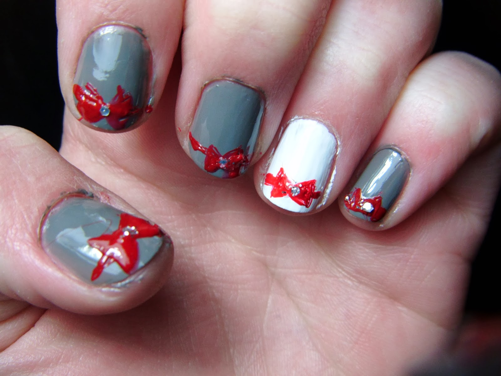 kennyista christmas present nails tutorial