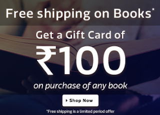 Flipkart : Buy Books And get at Upto 60% off and Rs.100 Gift Voucher with Free Shipping