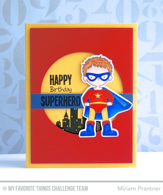 Superhero Birthday Card from Miriam Prantner featuring the Super Boy stamp set and Die-namics