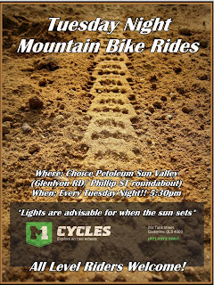 Tuesday night Mountain Bike Ride Flyer