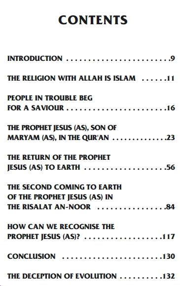 Contents of the Book Jesus will return