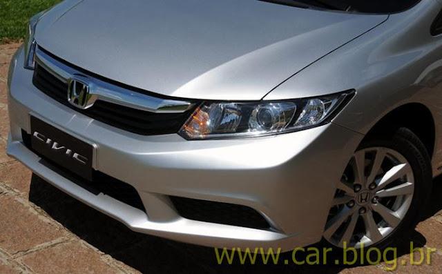 Novo Honda Civic 2012 brasileiro - grade dianteira