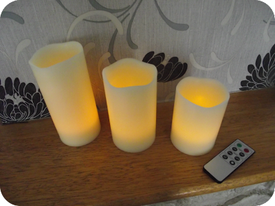 remote control candles lit up