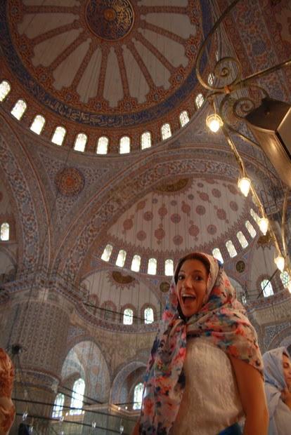 interior mezquita azul estambul azulejos