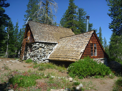 Peter Grubb Hut along the Pacific Crest Trail north of Donner Summit, California