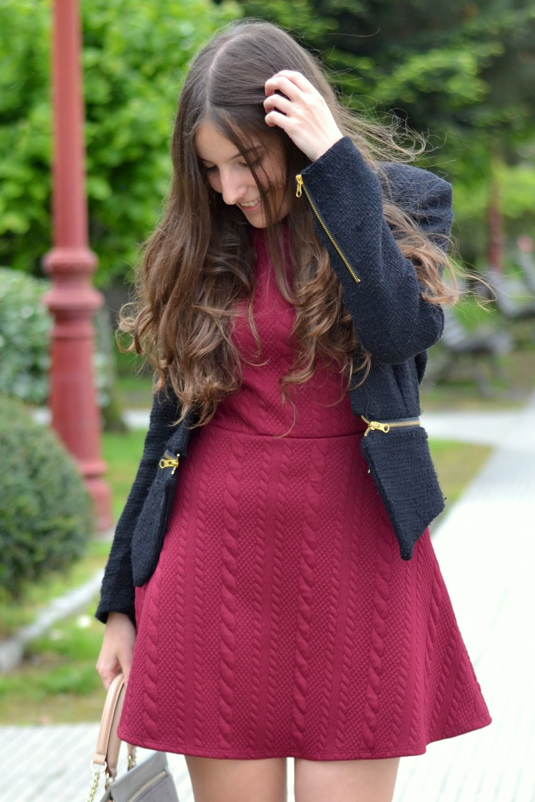 vestido burgundy lucloset