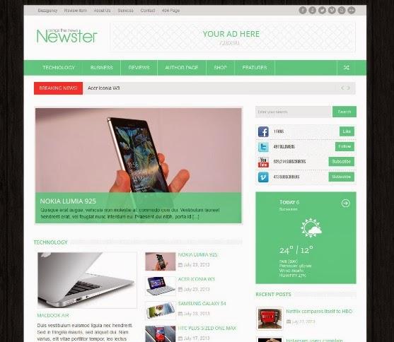Newster - Responsive WordPress Magazine Theme