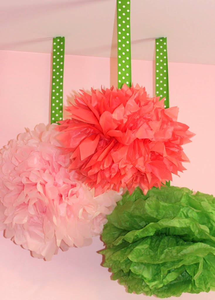 diy tissue pom poms mirabelle creations. Black Bedroom Furniture Sets. Home Design Ideas