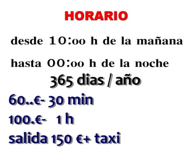 HORARIO + TARIFAS