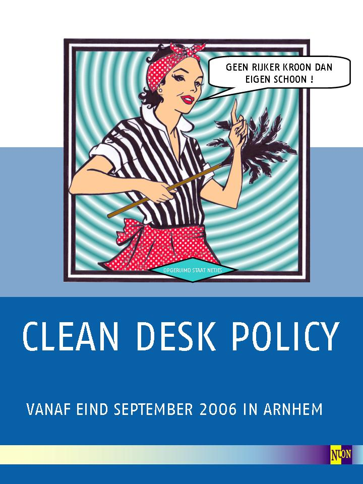 Clean Desk Policy Template Clean Desk Policy Poster Just B CAUSE