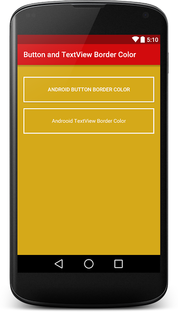 Button and TextView Border Color in Android