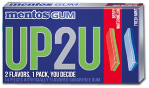 Hurry And Head On Over To The Mentos Up2u Facebook Page For Your Chance To Snag A Free Pack Of Their All New Gum That Was Just Released In Stores Across The