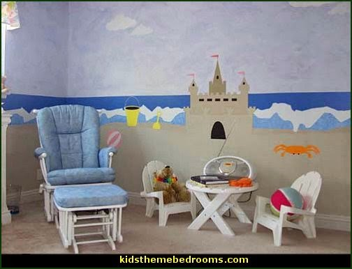 Decorating theme bedrooms maries manor beach theme for Beach mural bedroom