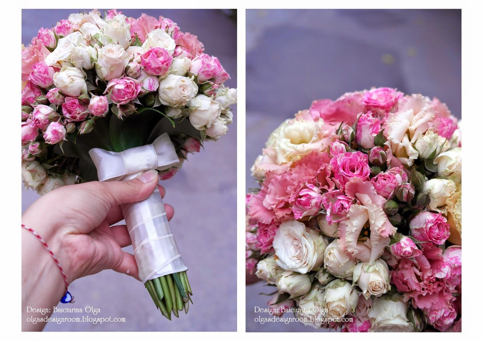 Свадебный букет своими руками из пионовидных роз с собственными стеблями 29