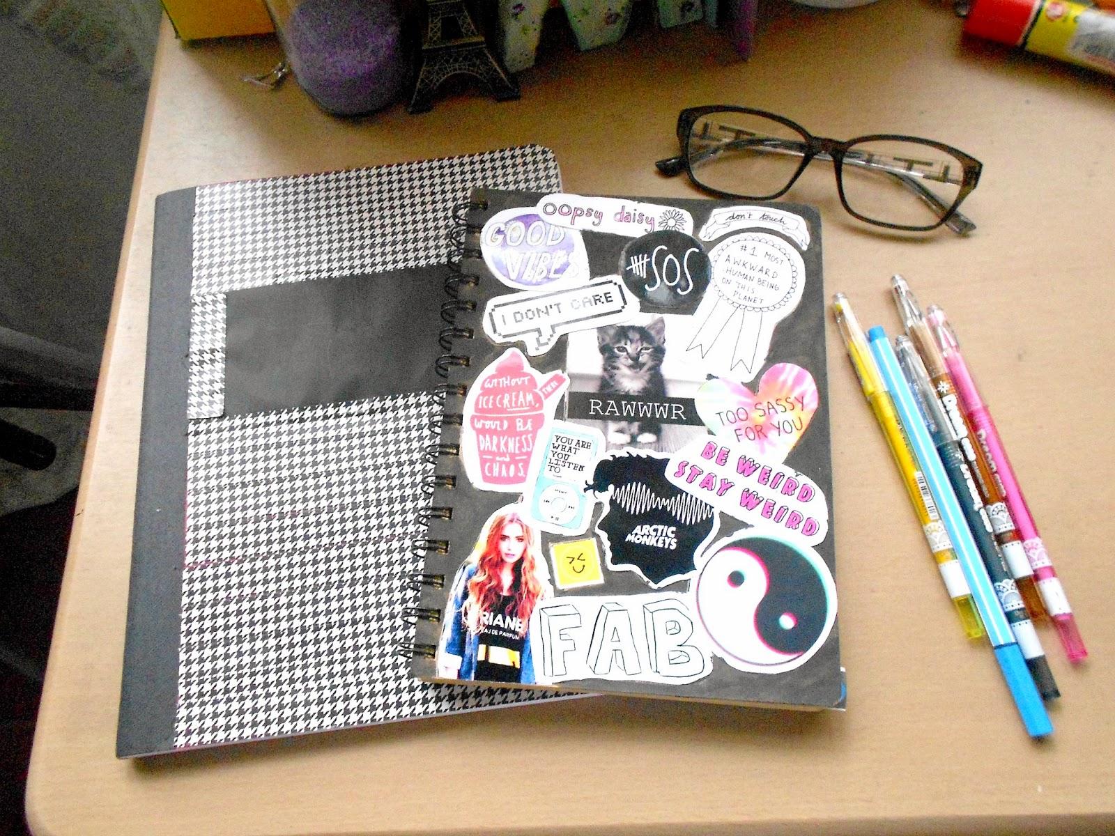 That Flower Child: DIY Tumblr Inspired Notebooks