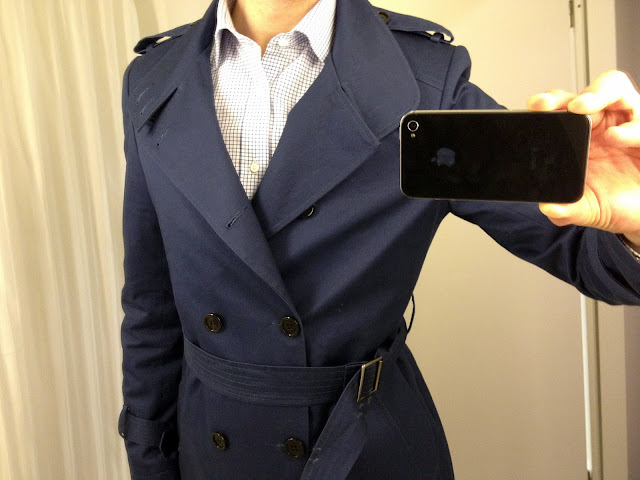 Indochino Adventurer Blue Trenchcoat