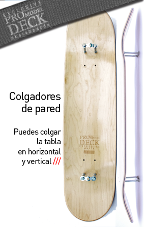 Como colgar una tabla de skate o longboard con soportes - Como colgar una manta en la pared ...