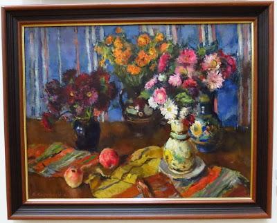 Владимир Костецкий, Осенние цветы. Натюрморт, 1962