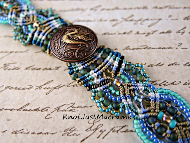 Dragon bracelet by Sherri Stokey of Knot Just Macrame