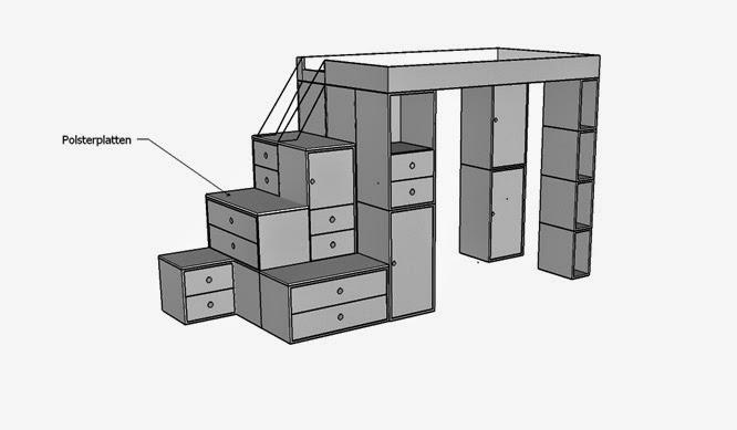 Kinderzimmermöbel-Module nach Legoprinzip