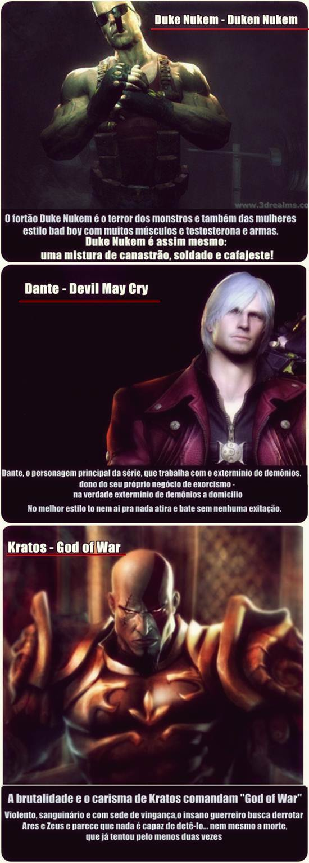duke nukem dante devil may cry  kratos god of war
