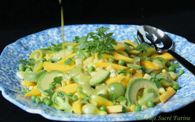 to Summer ………. Fresh Corn, Avocado & Mango Salad w/ Citrus ...