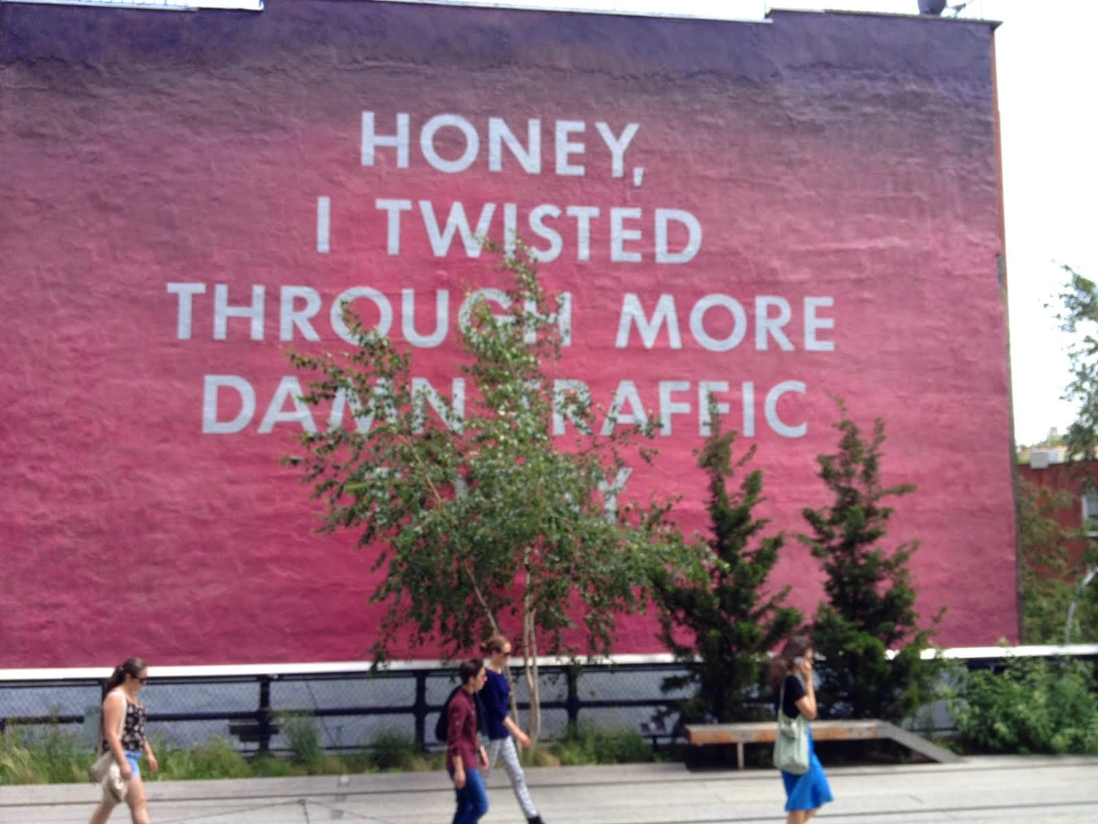 Ed Ruscha on The Highline, New York City