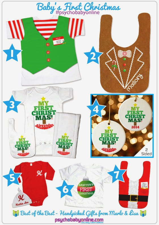 Baby's First Christmas Outfits and Gifts