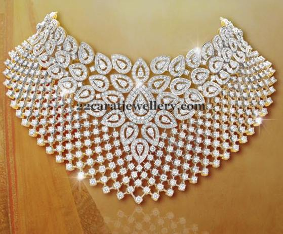 Sparkling Diamond Chokers by Shobha