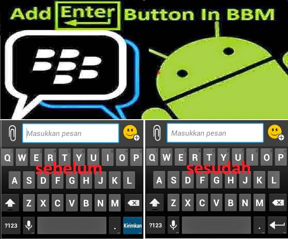 Membuat Tombol keyboard enter di BBM android