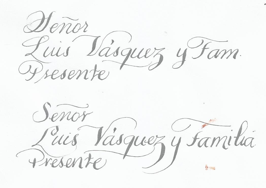 ana figueroa caligrafia e invitaciones tipos de letras