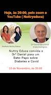 Aula, Gratuita sobre Diabetes e Covid