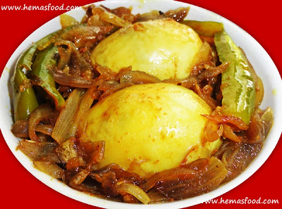 Boiled Egg Onion Stir Fry