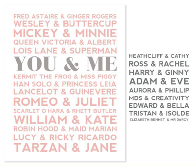 You & Me Designer Template - Digital Download