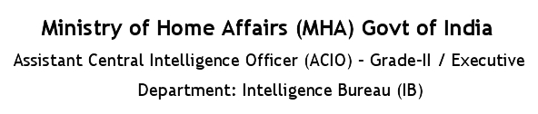 Intelligence Bureau (IB) Recruitment