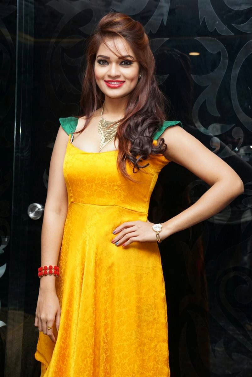 Actress Ashwini Latest Cute Hot Exclusive Orange Dress Beautiful Spicy Photos Gallery