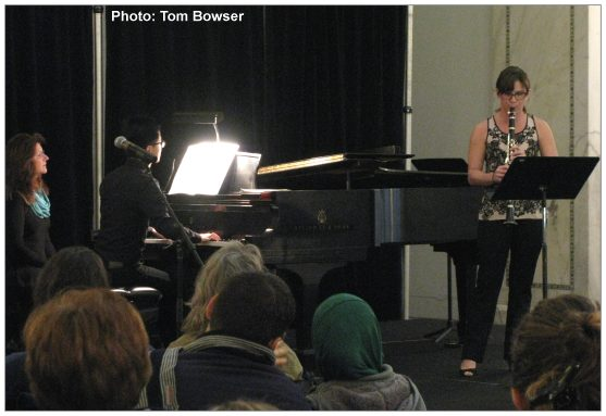 Jessica Smith and Xuan He | Musicians Club of Women | Chamber Monday Concert Series - photo by Tom Bowser