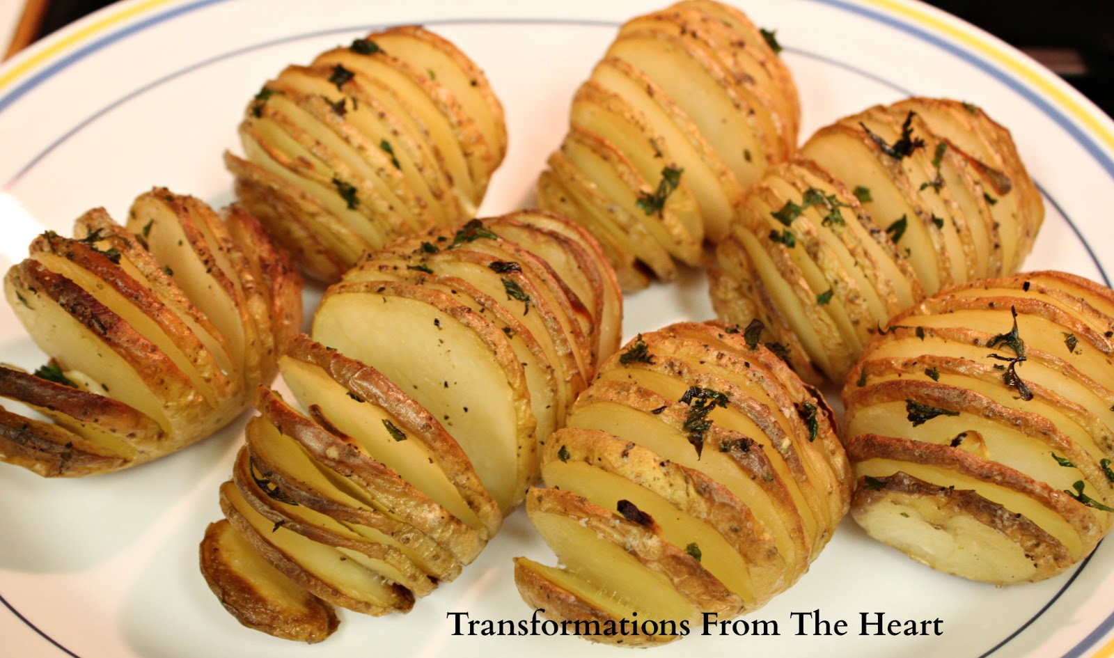 Transformations from the heart hasselback potatoes easy for Quick snacks to make with potatoes