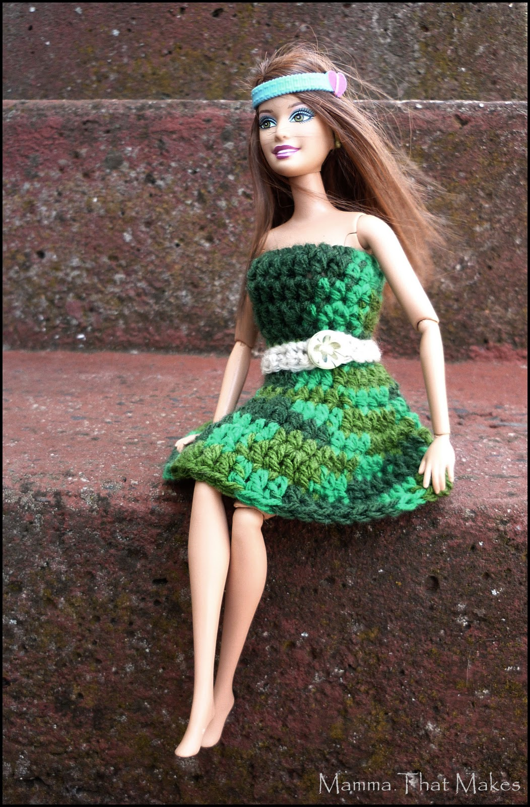 Mamma That Makes Crochet Pattern Barbie Garden Dress