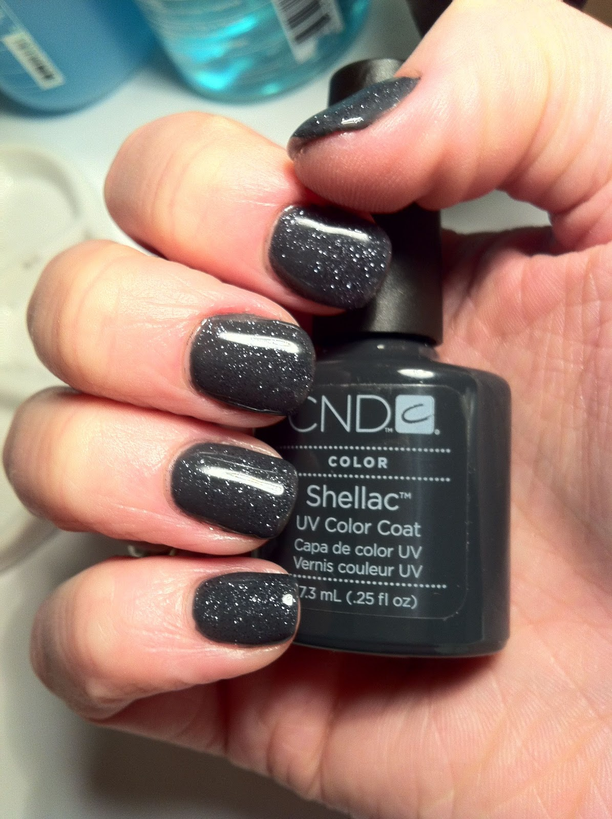 how to put glitter on shellac nails