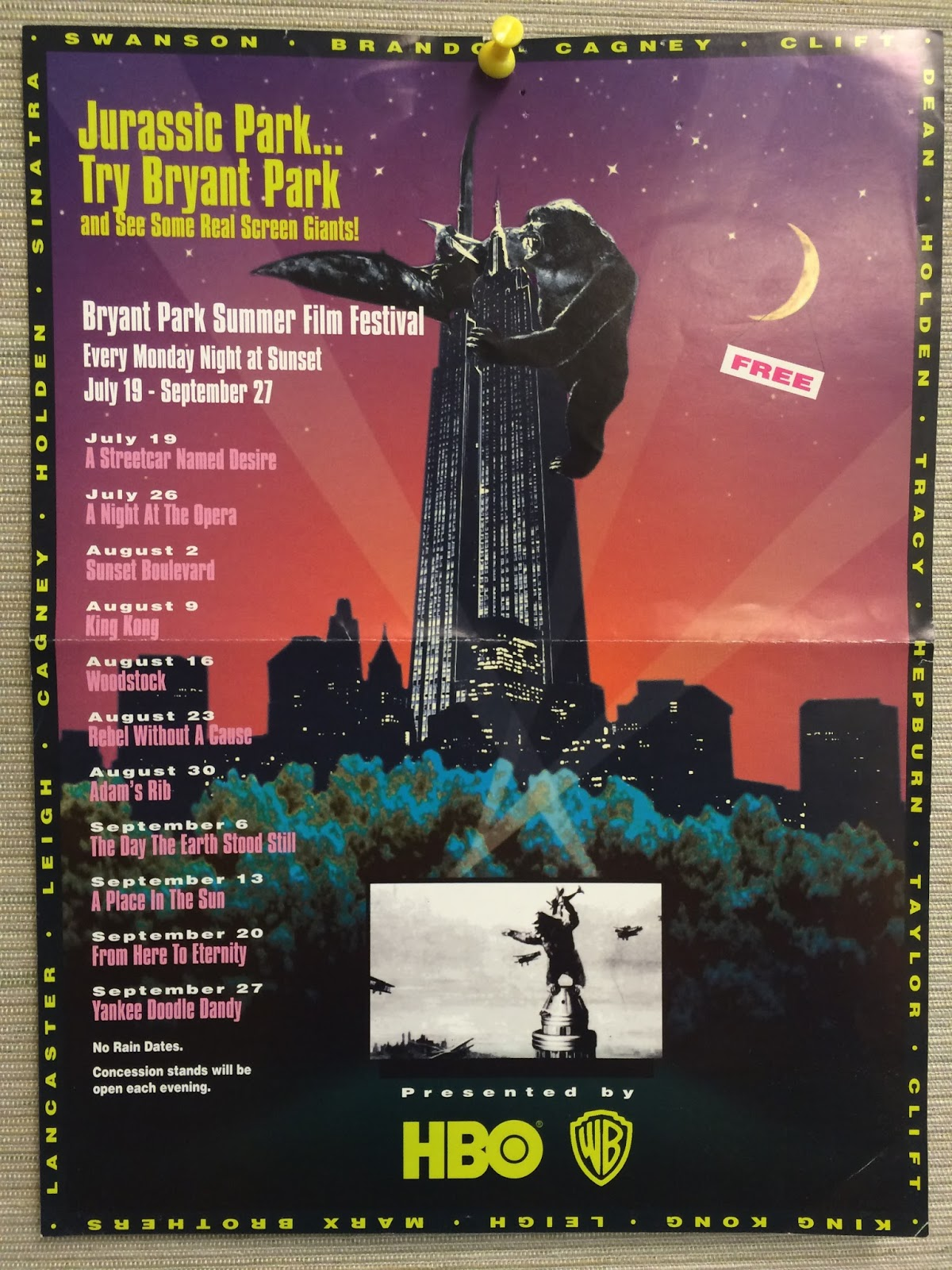 Bryant Park Blog Behind The Scenes Flashback To The Film Fests