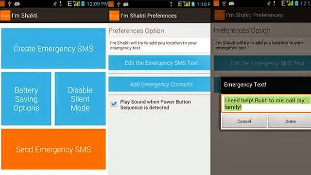 I'm Shakti a distress signalling App for your Android Smart phones and devices