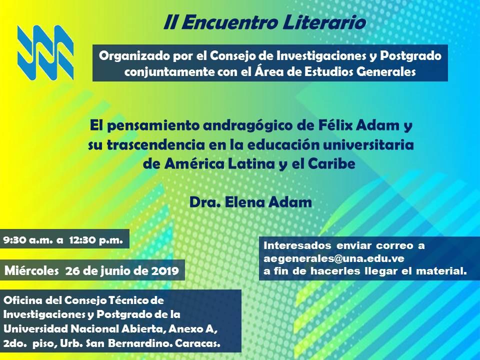 II Encuentro Literario Consejo de Investigaciones y Postgrado