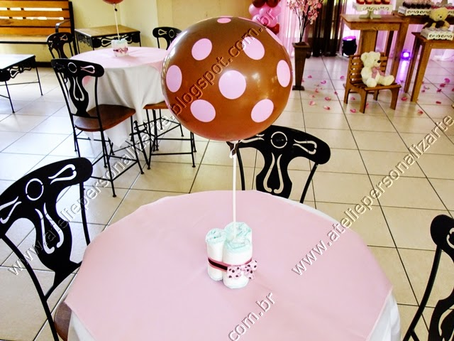 decoracao de cha de bebe rosa e marrom em porto alegre