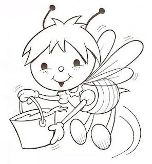 riscos para pintura de abelhas