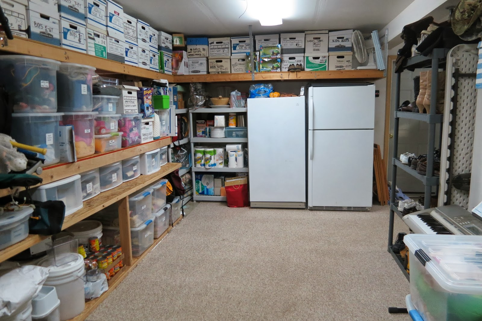 Large families on purpose organizing a home more tips for One car garage storage