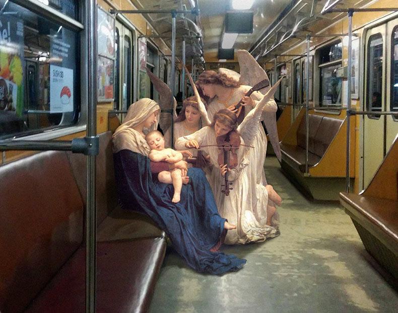 Artista Alexey Kondakov imagina figuras de pinturas clásicas como parte de la vida contemporánea