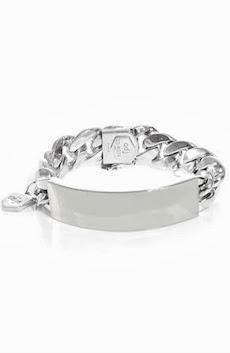 ANN DEXTER-JONES Silver ID bracelet